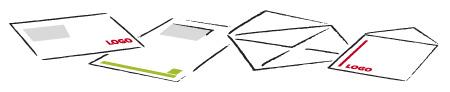Enveloppen blanco en bedrukt