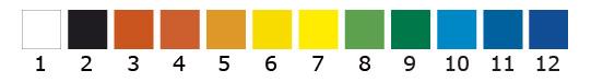 standaard kleuren vinylstickers