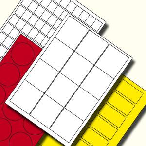 Illustratrie blanco etiket op vel