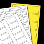 Recht of vierkant etiket op A4 vellen