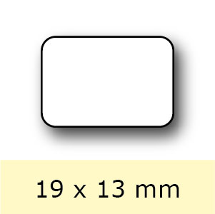 Etiketten op rol, 19 x 13 mm