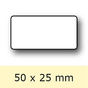 Etiket op rol, 50 x 25 mm
