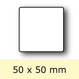 Blanco etiketten op rol 50 x 50 mm hetetiket for Kuchenschrank 50 x 50