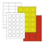 Laserprinter etiketten / Materialen