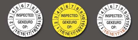 standaard keuringsstickers op rol