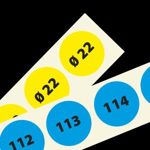 Nummeretiketten 22mm rond