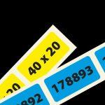 genummerde etiketten 40x20 mm