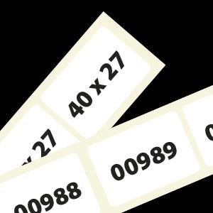 Nummeretiketten 40x27mm