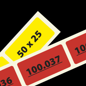 Nummeretiketten 50x25mm