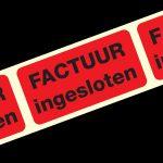 Standaard Etiket: Factuur ingesloten