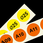 genummerde etiketten 25 mm rond