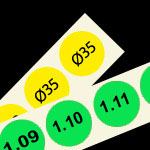 genummerde etiketten 35 mm rond