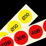 genummerde etiketten